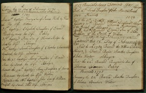 1789 baptisms burials